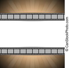 película, plantilla, tira