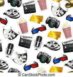 película, seamless, fundo