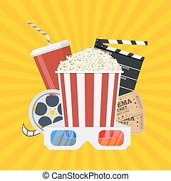 película, template., cartel