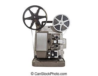 película, viejo, proyector