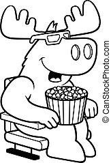 películas, alce, caricatura, 3d