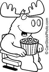 películas, alce, caricatura