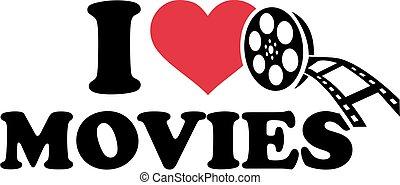 películas, amor, rollo, película