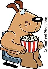 películas, caricatura, perro