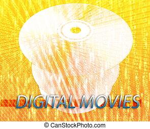 películas, medios digitales