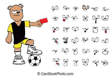 pelúcia, futebol, urso, cartoon9