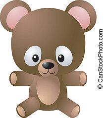 pelúcia, ilustração, urso
