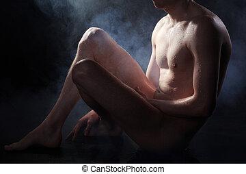 pelado, homem