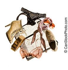 pelado, moda, nupcial, composição