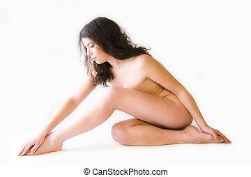 pelado, modelo, beleza, dado forma