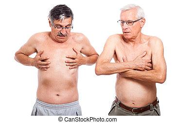 pelado, seniores, dois