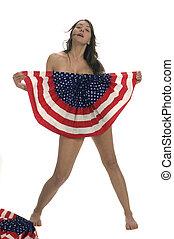 pelado, ventilador, patriota, bandeira, americano