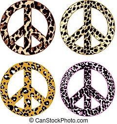 pele, paz, pele, animal, sinal