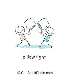 peleas, almohada