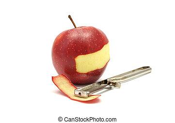 peler, pomme