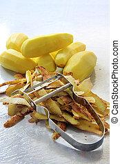 peler, pommes terre