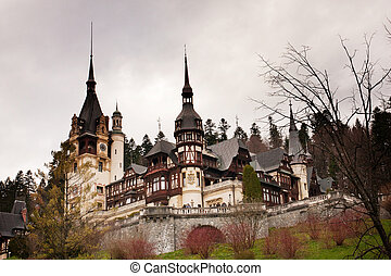 Peles Castle - famous romanian landmark in Sinaia