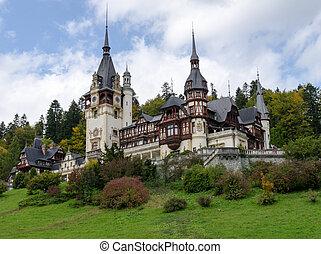Peles Castle in Sinaia, Romania - Peles Castle with 160...
