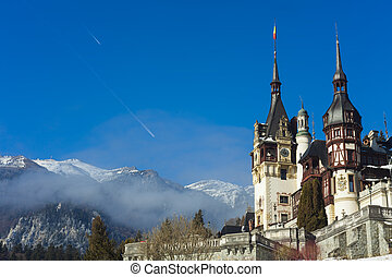 Peles castle in Transylvania, Romania. King Michael 1st propriety