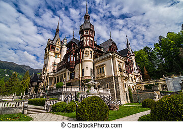 Peles Castle, Sinaia, Romania the former kingdom residence