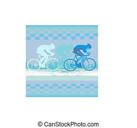 peleton, résumé, -, course, carte, cycle