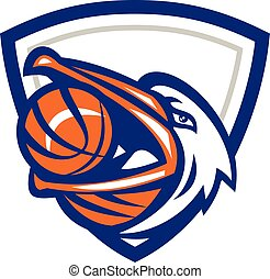 Pelican Basketball In Mouth Crest Retro