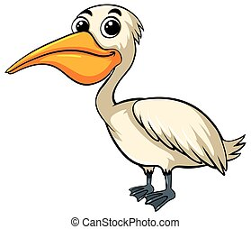 Pelican bird with happy face