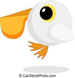 pelican flat vector
