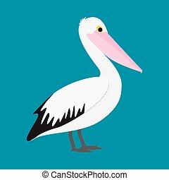 Pelican in vector format.
