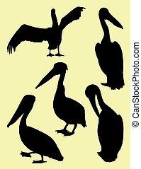 Pelican silhouettes 03.