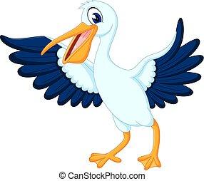 pelican - illustration of cute pelican cartoon