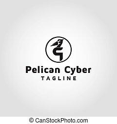 Pelican vector logo design template inspiration