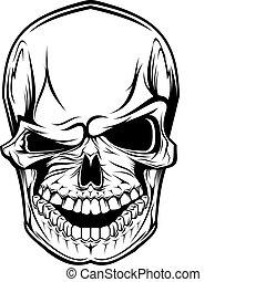 peligro, cráneo