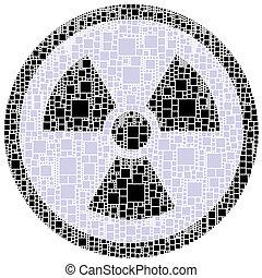 peligro, dentro, señal, x, círculo, rayo
