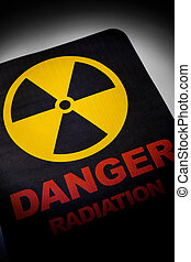 peligro, radiación, señal