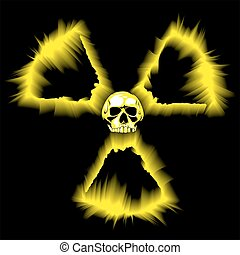peligro, símbolo radioactivo