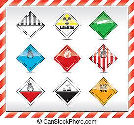 peligro, símbolos, señal