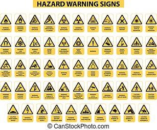 peligro, señales alerta
