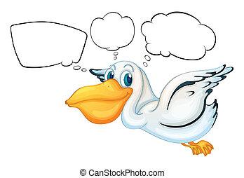 pelikan, opróżniać, callouts