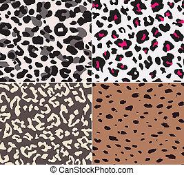 pelle animale, tessuto, seamless, modello
