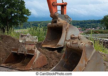 pelles, excavateur
