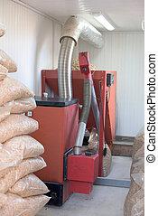 Pellet burner installation