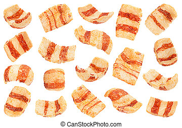 Pelleted salted snack bacon collection