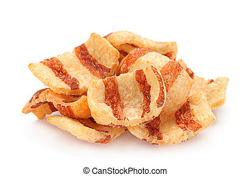 Pelleted salted snack bacon