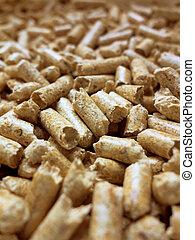 pellets. alternative heating in winter - eco-friendly...