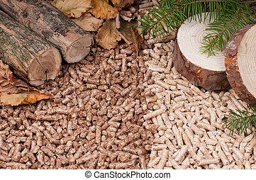 Pellets- biomass - Two kind of pellets and materilas pellets...
