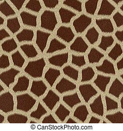 pelliccia, (skin), giraffa, struttura, fondo, o