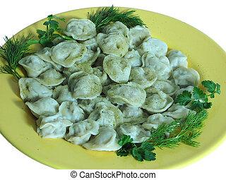 Russian food - Pelmeni - Russian food prepared from meat ...