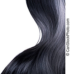 pelo, encima, negro, blanco