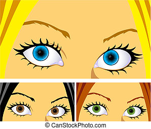 pelo, ojos, colorido